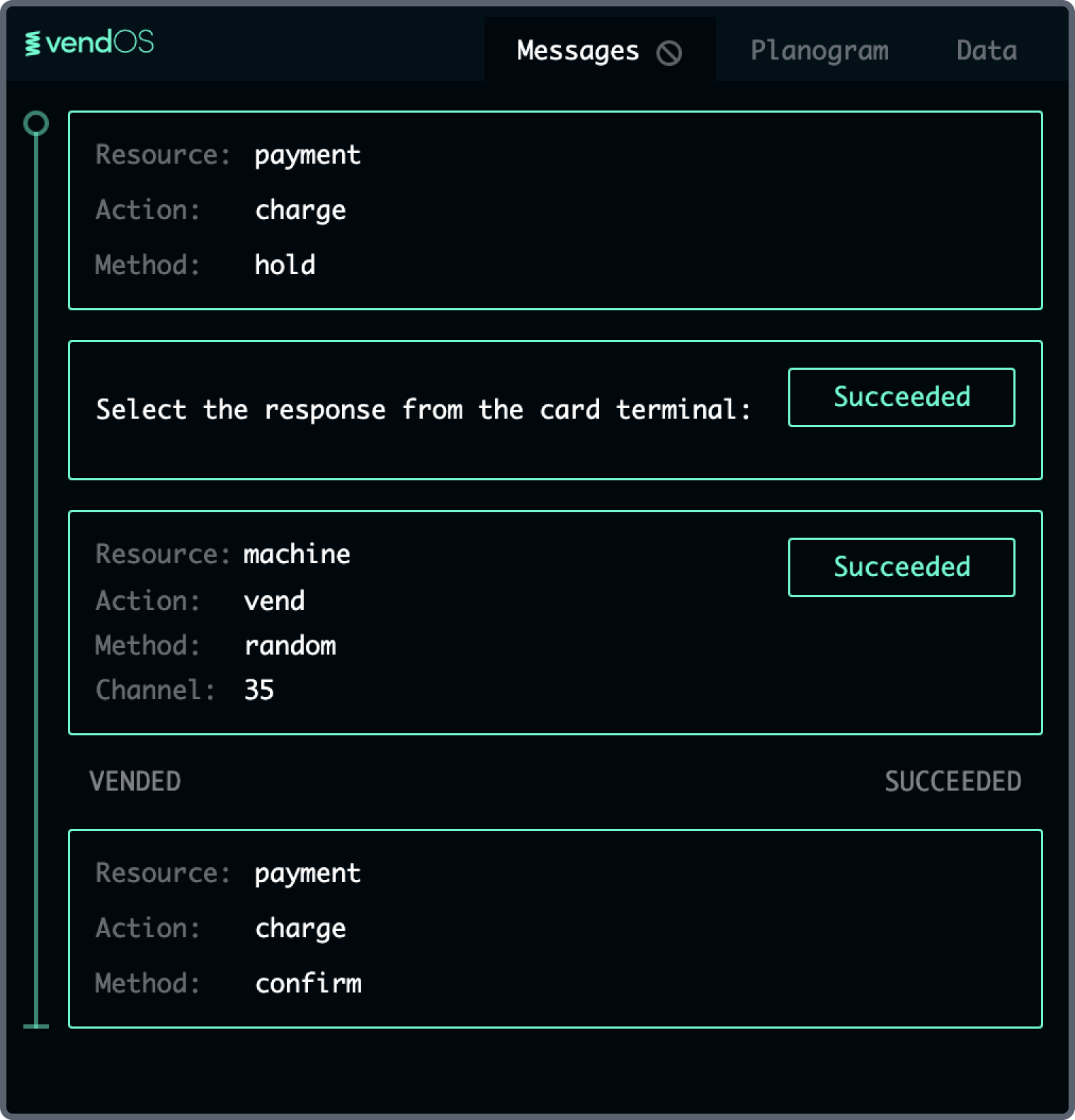 Payment Response Example 2
